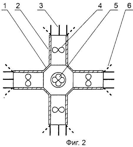 Струйный движитель с управляемым вектором тяги