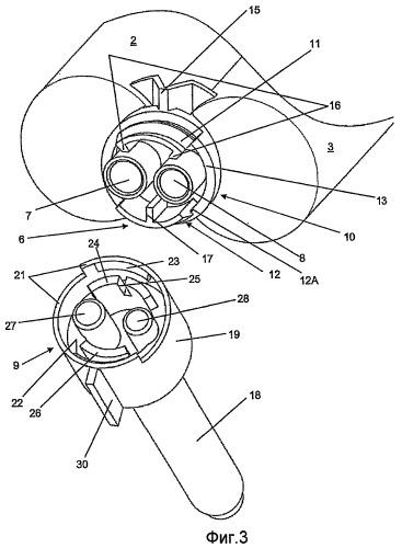 Распределительный узел, содержащий вспомогательные устройства, прикрепляемые с возможностью съема