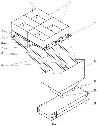 Бункерная установка для усреднения и загрузки углей