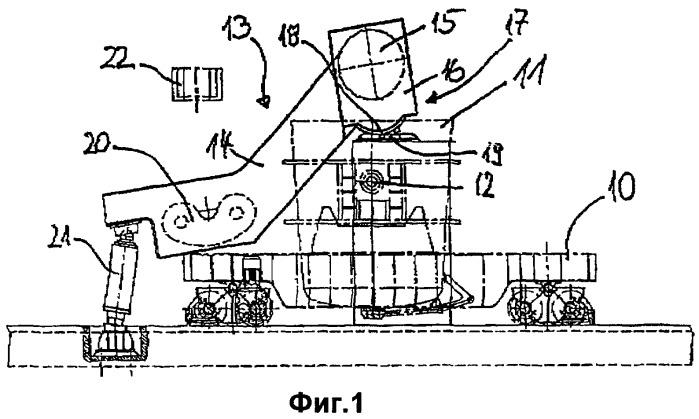 Подъемный механизм для сталеразливочных ковшей при обработке стали на установках rh