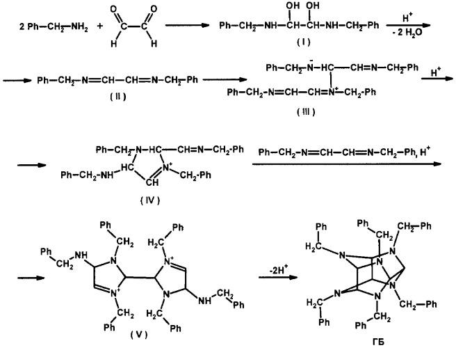 Способ получения 2,4,6,8,10,12-гексабензил-2,4,6,8,10,12-гексаазатетрацикло[5,5,0,03,11,05,9]додекана