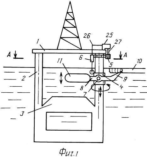 Морская глубоководная плавучая платформа