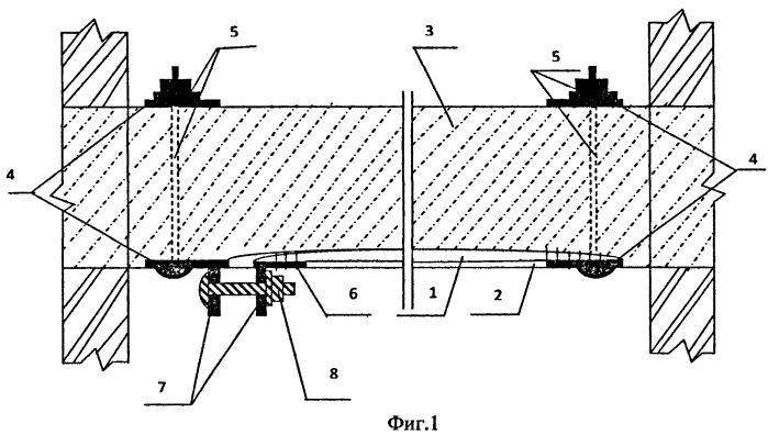 Способ усиления изгибаемых монолитных железобетонных конструкций и устройство для его осуществления