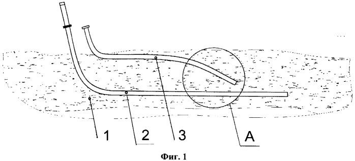 Способ разработки высоковязких нефтей и битумов с применением горизонтальной добывающей и горизонтально-наклонной нагнетательной скважин