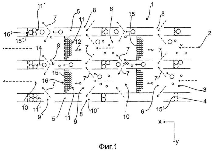 Отделитель твердых частиц, а также способ отделения твердых частиц из потока отработавших газов двигателя внутреннего сгорания