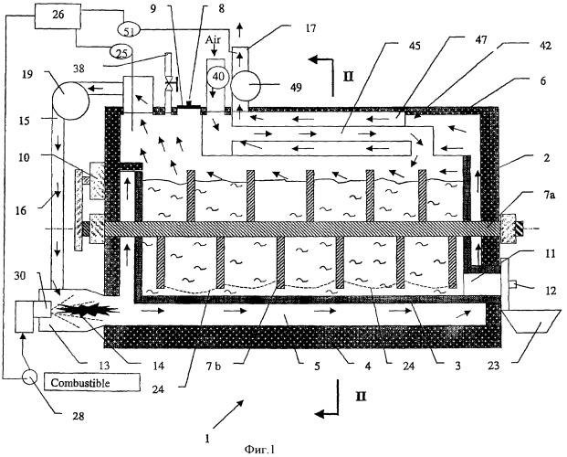 Аппарат и способ термической обработки органических материалов