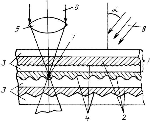Способ записи и считывания оптической информации в многослойный носитель с фоточувствительной средой