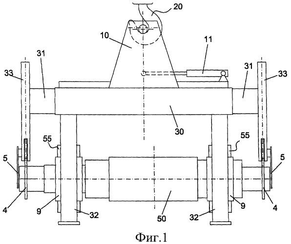 Зацепное устройство для систем перемещения прокатных валков