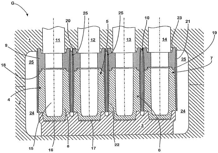 Литейная форма для отливки литой детали и применение такой литейной формы