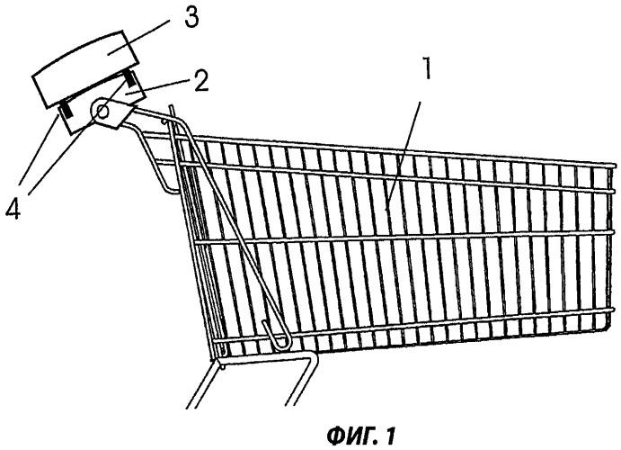 Тележка для покупок, оснащенная индикацией или рекламной панелью