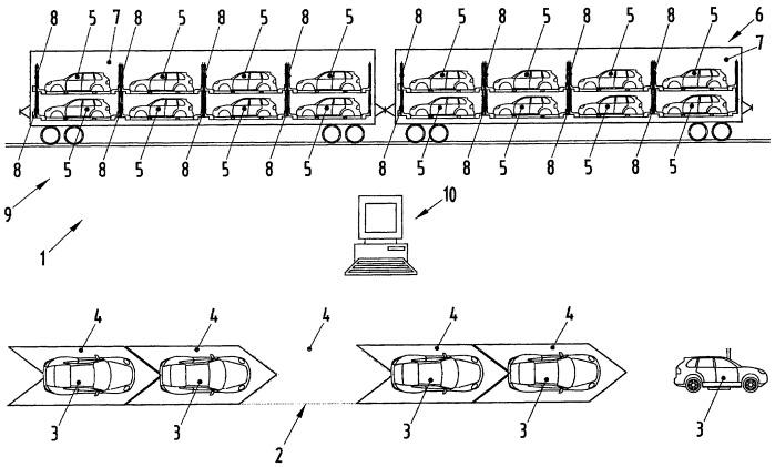 Способ для линии по сборке автомобилей