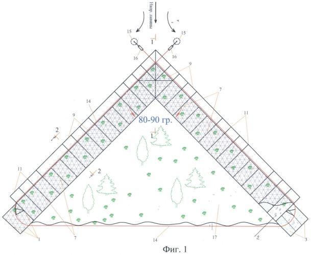 Способ возведения лавинорезов биопозитивной конструкции