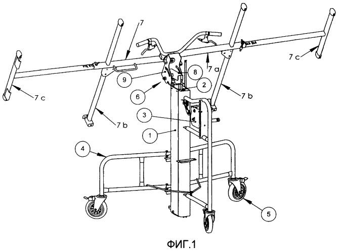 Устройство опоры ограничителя перемещения для установки штукатурных плит переменной ширины, используя приспособления для поднятия и обращения с плитами