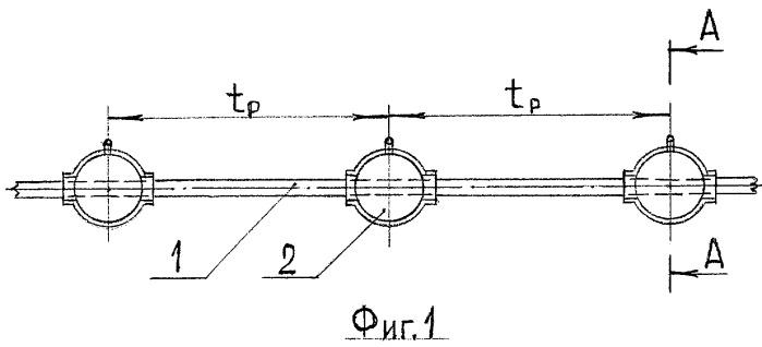 Способ балластировки подводного трубопровода