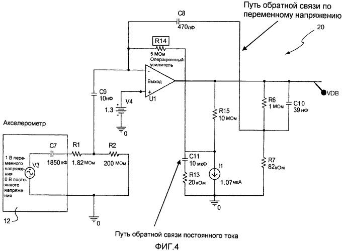 Цепь обратной связи для устойчивого к радиации датчика