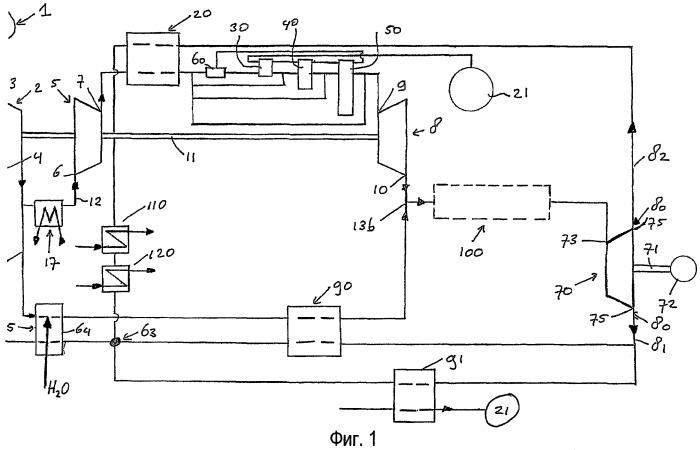 Система с высокотемпературными топливными элементами