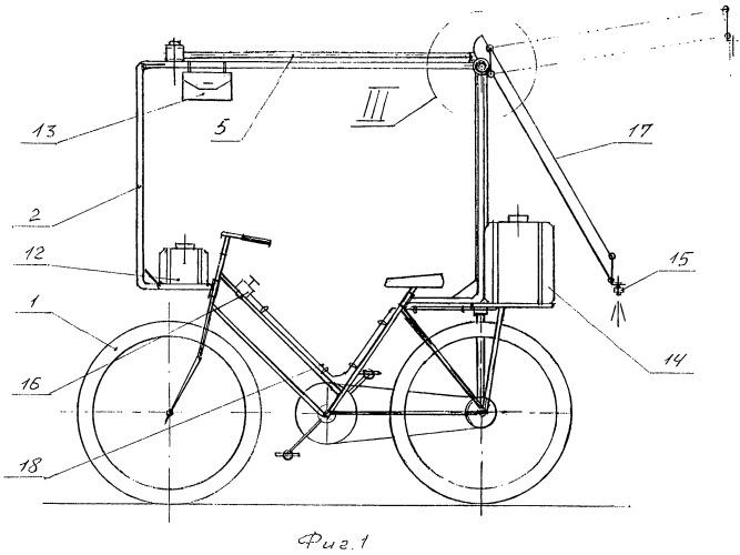 Селекционный велоопрыскиватель