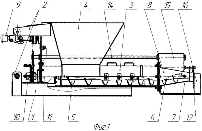 Пресс-экструдер для изготовления торфяных горшочков