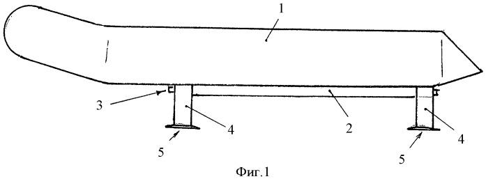 Надувная лодка на подводных крыльях