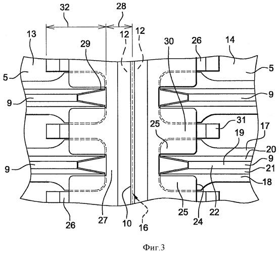Конструкция самолета, содержащая соединения краев элементов жесткости
