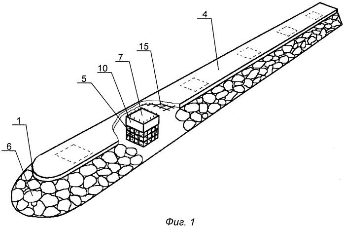 Каменно-набросное гидротехническое сооружение и способ его возведения