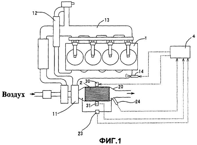 Способ детектирования количества собранного вещества в виде частиц и устройство детектирования собранного количества, и устройство преобразования выхлопных газов