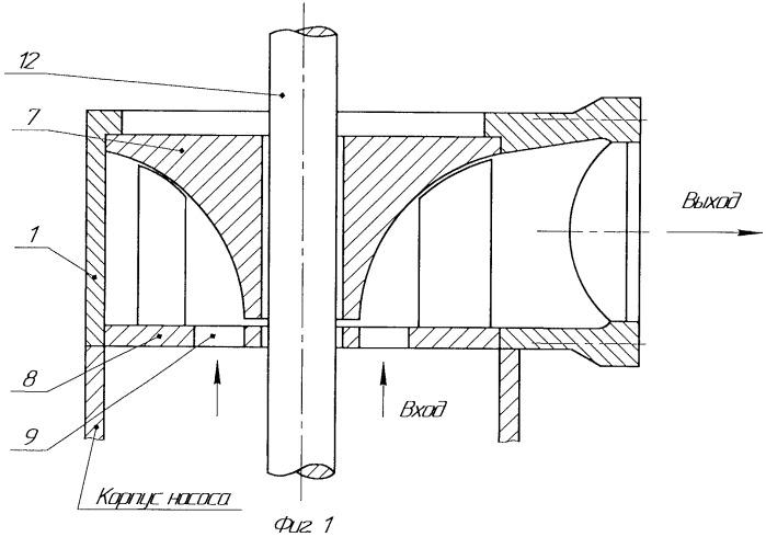 Двупоточное отводящее гидравлическое устройство центробежного насоса