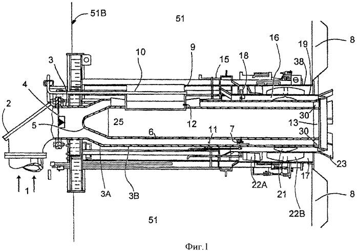 Горелка с центральной воздушной струей и способ уменьшения выбросов nox указанной горелки (варианты)