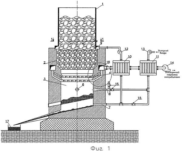 Установка для термического разложения несортированных твердых бытовых отходов