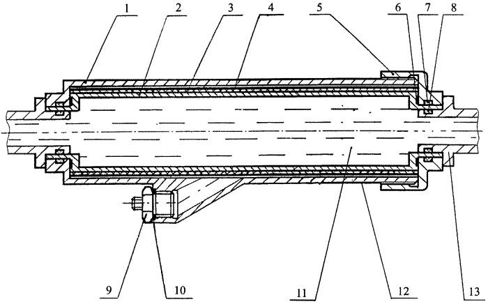 Пиротехническое устройство для подогрева жидкости в трубопроводе