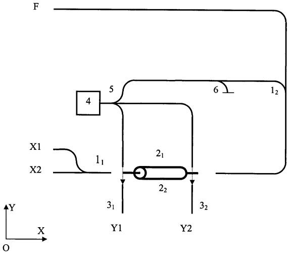 Оптический многофункциональный логический наноэлемент