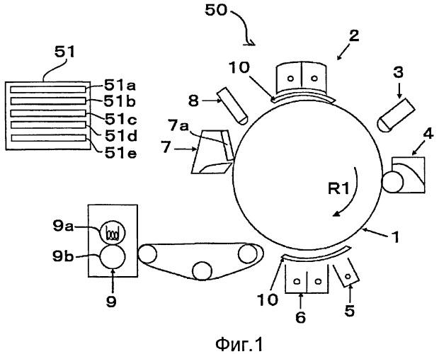Устройство для формирования изображения с коронирующим зарядным устройством