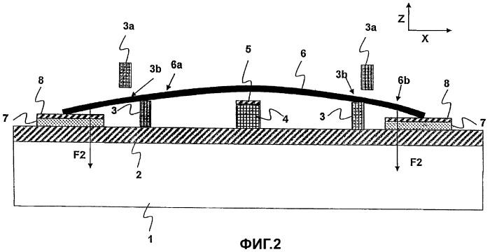 Радиочастотный микроэлектромеханический переключатель (рч мэмс-переключатель) с гибкой и свободной мембраной переключателя