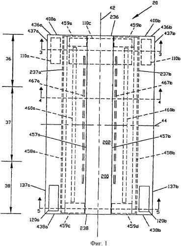 Одноразовое впитывающее изделие с двухслойными барьерными краевыми полосками