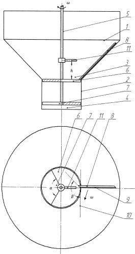 Дозатор с бункером для сыпучих материалов