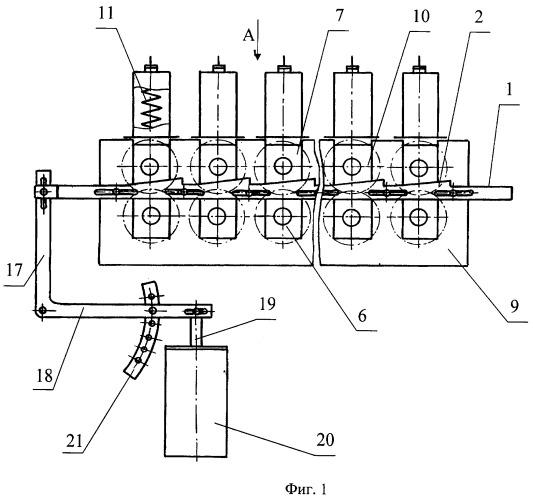 Устройство для регулирования глубины захождения рифлей мяльных валков