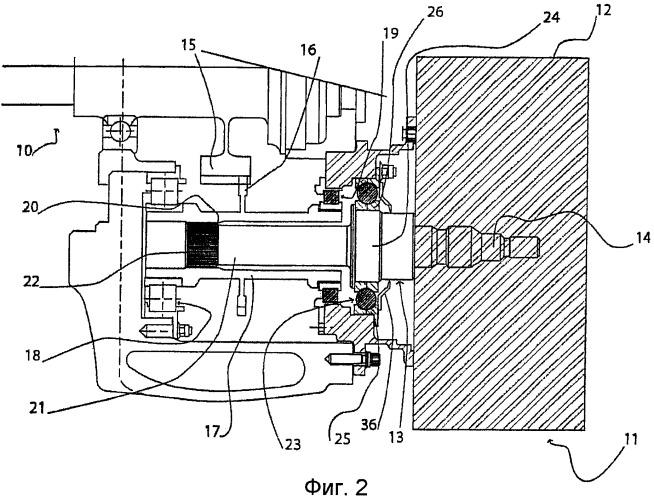 Устройство привода ротора вспомогательного агрегата газотурбинного двигателя, опора агрегатов для газотурбинного двигателя и газотурбинный двигатель