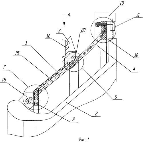 Фланец поворотного сопла ракетного двигателя из композиционных материалов и способ изготовления фланца поворотного сопла ракетного двигателя из композиционных материалов