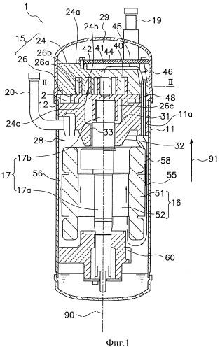 Компрессионный механизм и спиральный компрессор