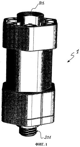 Устройство, состоящее из последовательно соединенных секций для электрической изоляции труб