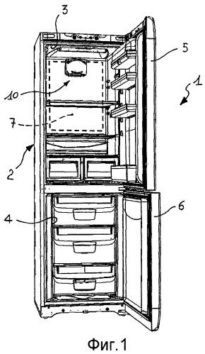 Бытовой холодильник с устройством для циркуляции и очистки воздуха