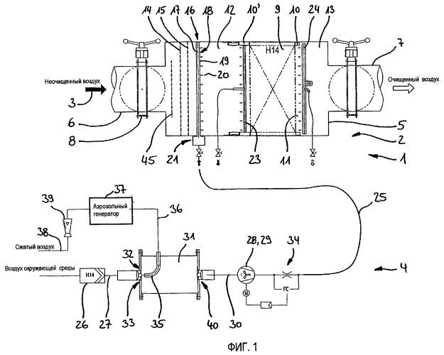 Способ и устройство для определения степени улавливания фильтровального устройства