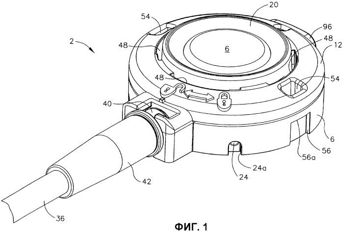 Имплантируемое медицинское устройство с соединительным механизмом с обратным действием и способ применения