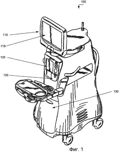 Верхний и нижний зажим хирургической кассеты