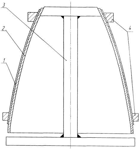 Способ формообразования пакета эквидистантных крупногабаритных оболочек оживальной формы из разнородных материалов