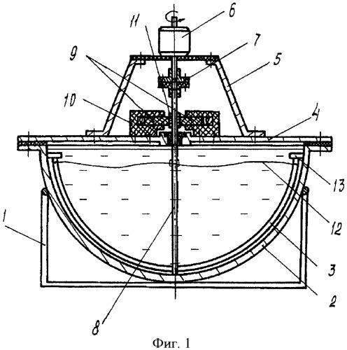 Устройство для электрохимической обработки крупногабаритных тонкостенных деталей типа тел вращения