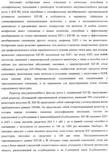 Новые антитела к igf-ir и их применение
