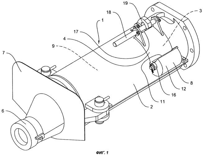 Пушка для закрытия летки металлургической печи