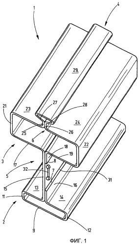 Сварной посредством лазерной сварки подкрановый рельс для подвесных крановых тележек
