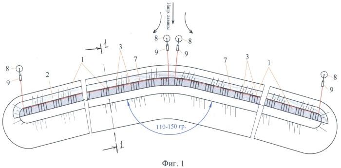 Лавинозащитная дамба комбинированной конструкции